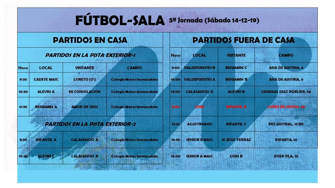 FS quinta jornada - Blog de deportes