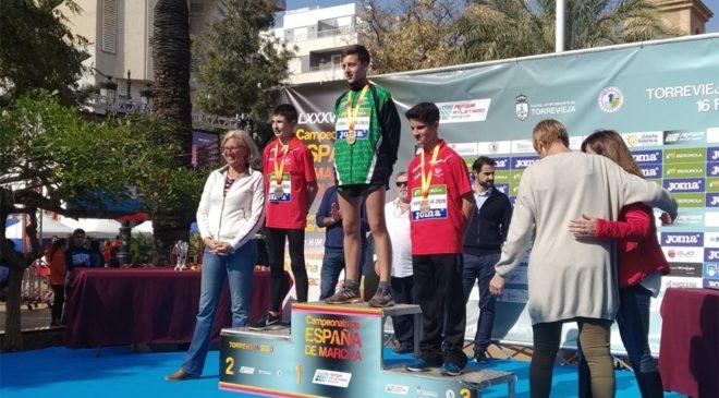 Javier de Arriba, subcampeón de España sub 16 de Marcha