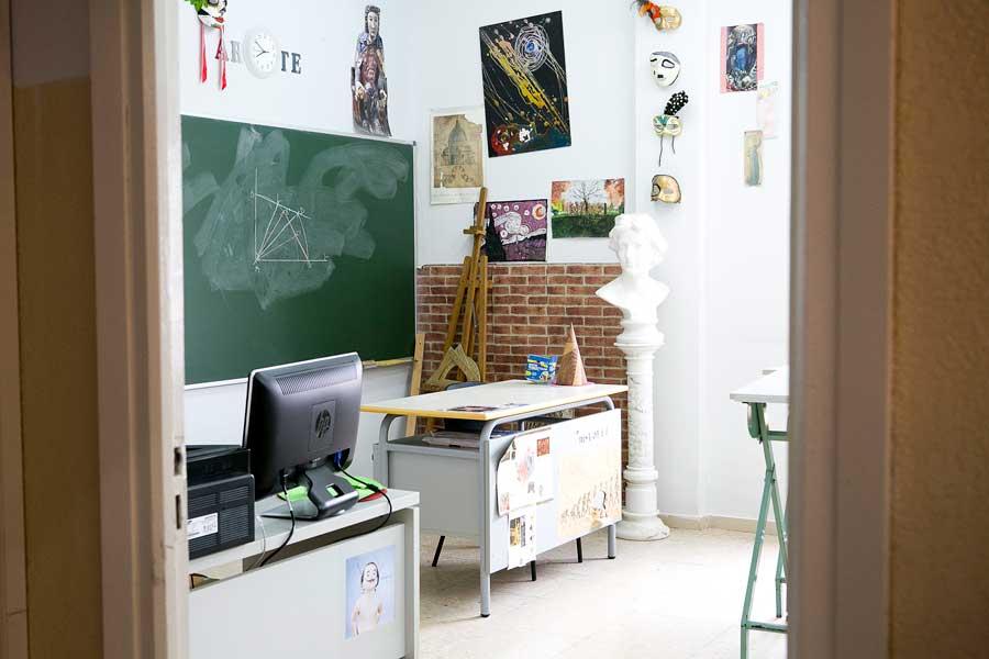 Instalaciones - Aula artística Colegio Mater 1